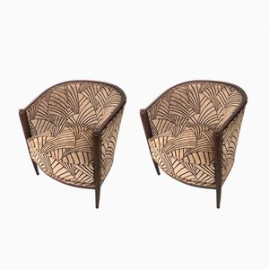 French Art Deco Club Chairs, 1920s, Set of 2