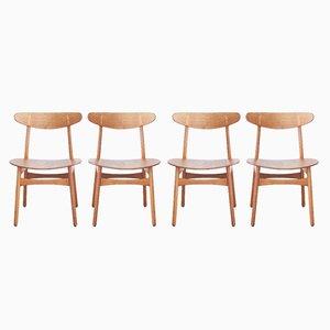 Chaises de Salle à Manger Numéro Ch30 par Hans Wegner pour Carl Hansen and Søn, 1950s, Set de 4