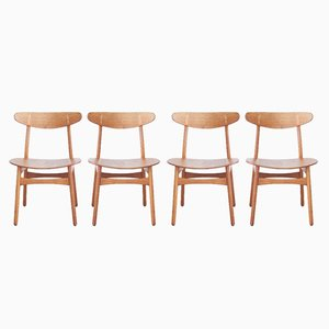 Dining Chairs No. Ch30 by Hans Wegner for Carl Hansen and Søn, 1950s, Set of 4