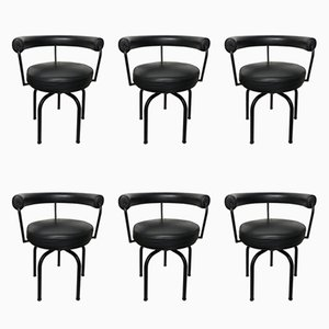 LC 7 Chairs by Pierrand, Corbusier, & Jeanneret for Cassina, 1960s, Set of 6