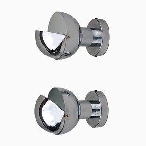 Lampes à Globe en Chrome, 1970s, Set de 2
