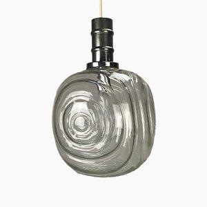 Kugelförmige deutsche Hängelampe aus Chrom & Glas, 1960er