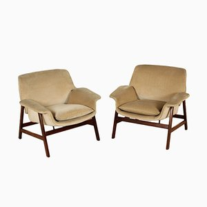 Italian Armchairs by Gianfranco Frattini for Cassina, 1960s, Set of 2