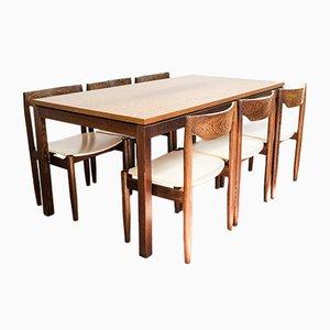Juego de mesa de comedor de wengué, años 60
