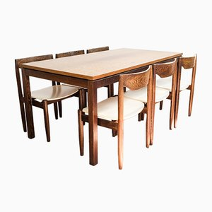 Wengé Dining Table Set, 1960s