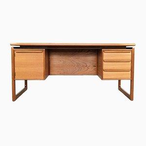 Dänischer Schreibtisch aus Teak schwebender Tischplatte, 1960er