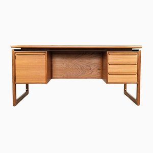 Danish Teak Desk with Floating Table Top, 1960s