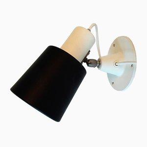 Lampada da parete modello 7062 bianca e nera di Anvia, anni '60