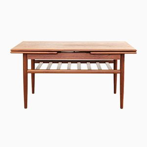 Danish Extendable Teak Coffee Table, 1960s