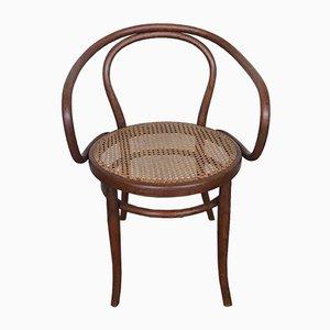 Antiker österreichischer Sessel aus Bugholz & Schilfrohr von Jacob & Joseph Kohn