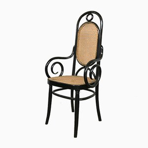 Antique Romanian Bentwood Thonet Armchair from Jacob & Joseph Kohn
