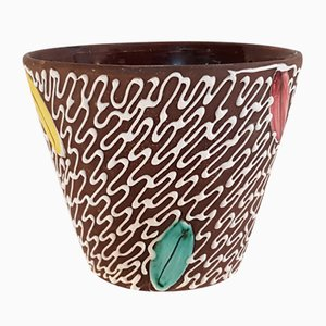 Mid-Century Italian Ceramic Flower Pot by Fratelli Fanciullacci