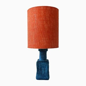 Vintage Orange and Blue Stone Table Lamp, 1960s