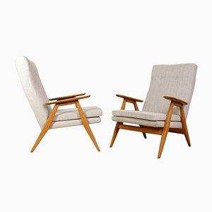 Französische Mid-Century Sessel, 1960er, 2er Set