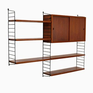 Vintage Teak Veneered Wall Unit by Katja & Nils 'Nisse' Strinning for String