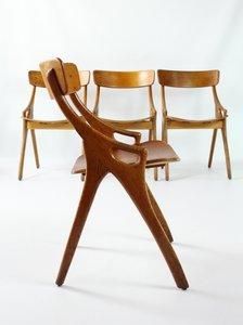 Chaises de Salle à Manger par Arne Hovmand Olsen pour Mogens Kold, 1950s, Set de 4