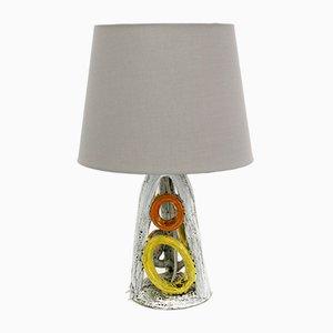Glazed Ceramic Table Lamp, 1970s