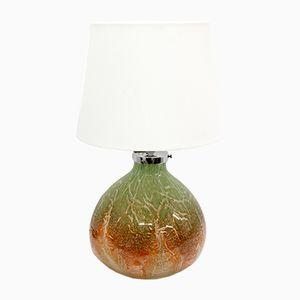 Lampada da tavolo fatta a mano in vetro di WMF, anni '70