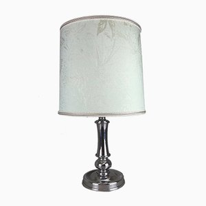 Vintage German Chrome & Fabric Table Lamp, 1960s