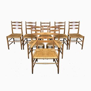 Mid-Century Dining Chairs in Oak from Benze, 1960s, Set of 8