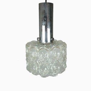 Lampada da parete in vetro con bolle e cromata di Limburg, anni '60