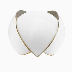 Collision Small Table Light in Gold Galvanic with White Acrylic by Bohinc Studio