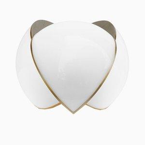 Lampada da tavolo Collision grande bianca e oro di Bohinc Studio