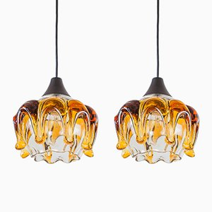Murano Glass Pendants, 1970s, Set of 2