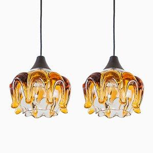 Murano Glass Pendants, 1970s, Set of 2
