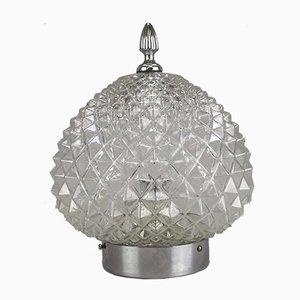 Vintage Space Age Lampe aus Sideglas