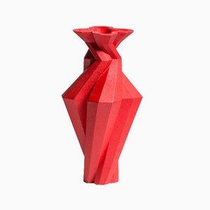 Fortress Spire Vase in Red Ceramic by Bohinc Studio