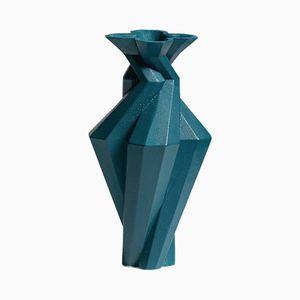 Fortress Spire Vase in Blue Ceramic by Bohinc Studio