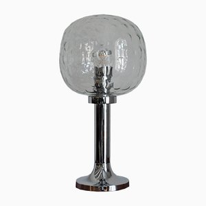 Large East German Table Lamp in Chrome & Glass, 1970s