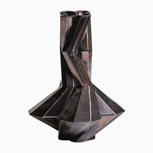 Fortress Cupola Vase in Bronze Ceramic by Bohinc Studio