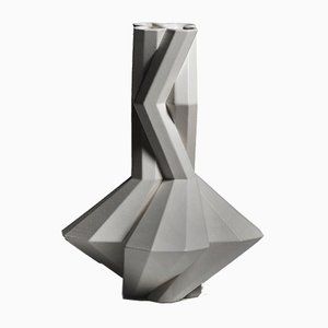Fortress Cupola Vase in Grey Ceramic by Bohinc Studio