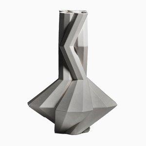 Fortress Cupola Vase in Grey Ceramic by Bohinc Studio