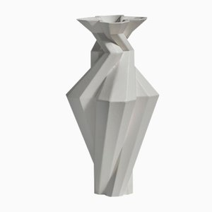 Fortress Spire Vase in Iron Ceramic by Bohinc Studio