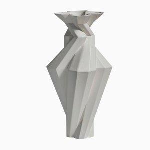 Fortress Spire Vase Keramik in Eisen-Optik von Bohinc Studio