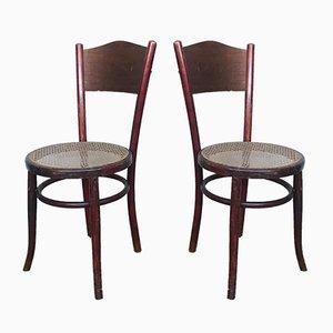 Österreichische Vintage Bistro Stühle von Fischel, 2er Set
