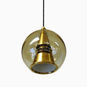Lampada da soffitto sferica Space Age di T. Røste & Co, anni '60