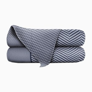 Couverture Ocean & Denim en Laine Merino par Blankets & Throws