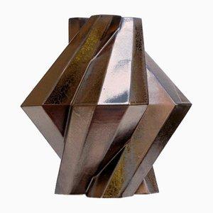 Fortress Pillar Vase in Bronze Ceramic by Bohinc Studio