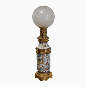 Antique Hand-Painted Porcelain Table Lamp