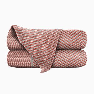 Couverture Orange & Wood en Laine Merino par Blankets & Throws