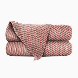 Manta Merino de lana naranja y madera de Blankets & Throws