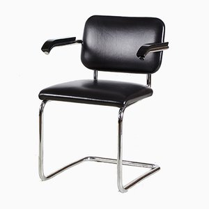 Cesca Chrome Framed Leather Chair by Marcel Breuer for Knoll Inc., 1928
