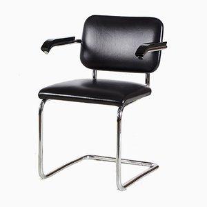 Cesca Chrome Framed Leather Chair by Marcel Breuer for Knoll Inc., 1928