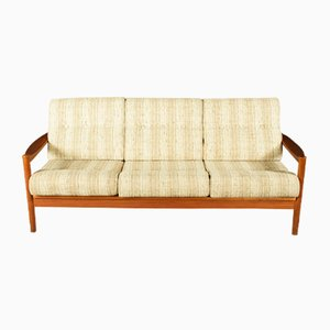 Scandinavian Teak Three-Seater Sofa, 1960s