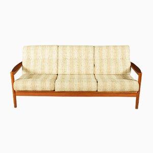 Scandinavian Teak Three-Seater Sofa, 1960s
