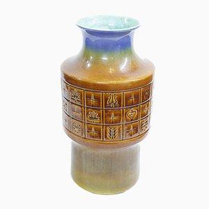 Jarrón grande de cerámica, años 70